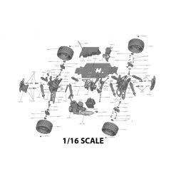1/16 Scale RC Parts