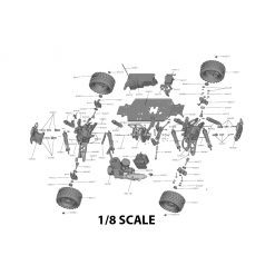 1/8 Scale RC Parts